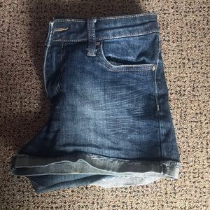 Dark wash jeans shorts